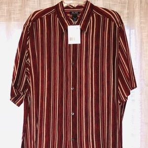 Other - Men's striped collared button down shirt top